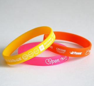 silicone wristbands warm colors