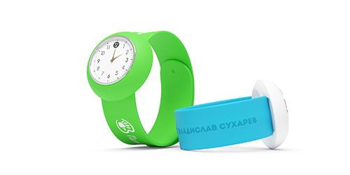 Слэп часы с логотипом