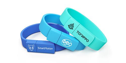 Флешки браслеты с печатью логотипа