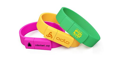 Силиконовые браслеты флешки с печатью лого